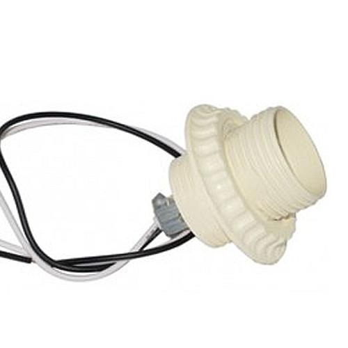 Патрон пластиковий білий Е27 з проводом 30 см (уп. 10 шт.) R