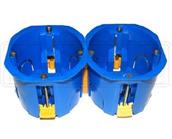 Коробка під електророзетку в гіпс синій збірна з гвинтамиd68 (4 самореза)(ціна за1ш)(вид.по100шт)NEW
