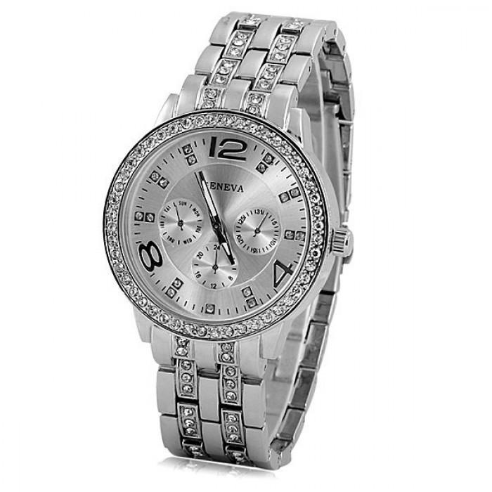 Женские часы Geneva Silver Оригинал + Гарантия!