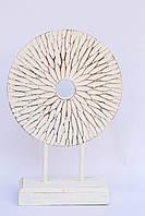 Статуэтка абстракция круг резной высота 35 см