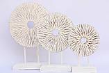 Статуэтка абстракция круг резной высота 35 см, фото 2