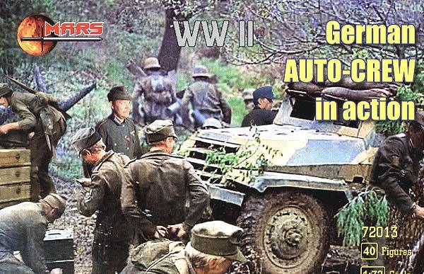 GERMAN AUTO-CREW IN ACTION. 1/72 MARS 72013