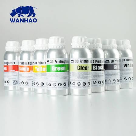 Фотополімерна смола  UV Resin Wanhao, біла, 500 мл, фото 2