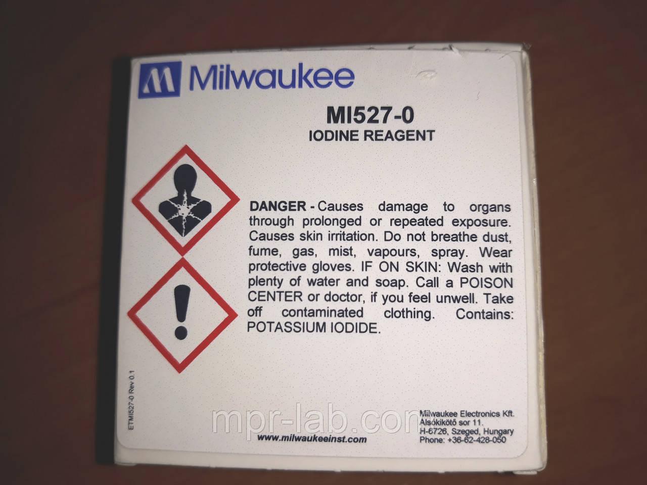 Порошковий реагент Milwaukee MI527-25 для визначення йоду,25 тестів