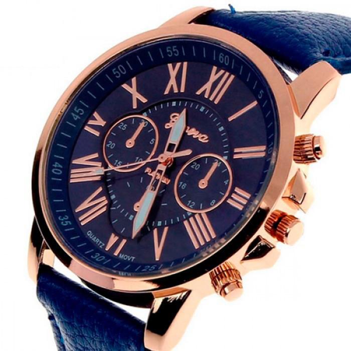 Женские часы Geneva Uno Blue Оригинал + Гарантия!