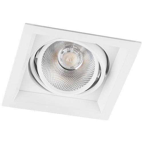 Карданный светильник LED AL201 12W 4000K размер 145х145х73мм