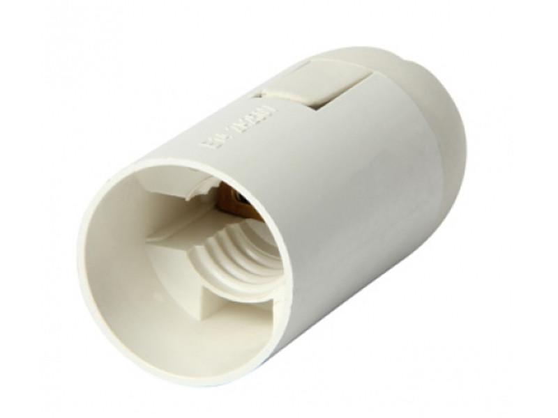 Патрон пластиковий Е14 білий в сборе Импорт (2613)