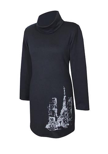 Платье с высоким воротником Париж для полных
