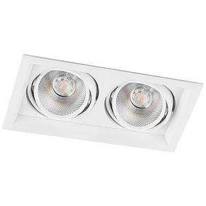 Карданный светильник LED AL202 2xCOB 12W 4000K размер 260х145х73 мм