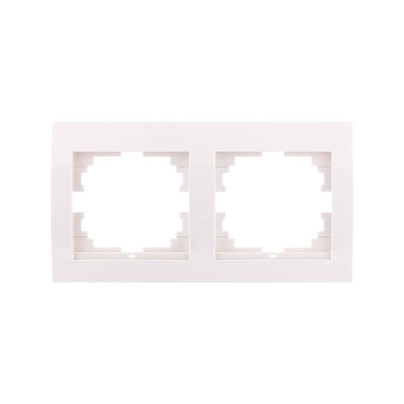 Рамка 2-а горизонтальна  білий (10шт/120шт) 702-0200-147 DERIY ТМ LEZARD Турция
