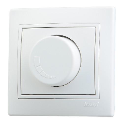 Діммер 800 Вт білий з білою вставкою (10шт/120шт) MIRA ТМ LEZARD Турция 701-0202-115