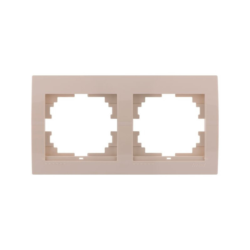 Рамка 2-а горизонтальна крем LEZARD 702-0300-147 DERIY  000013682