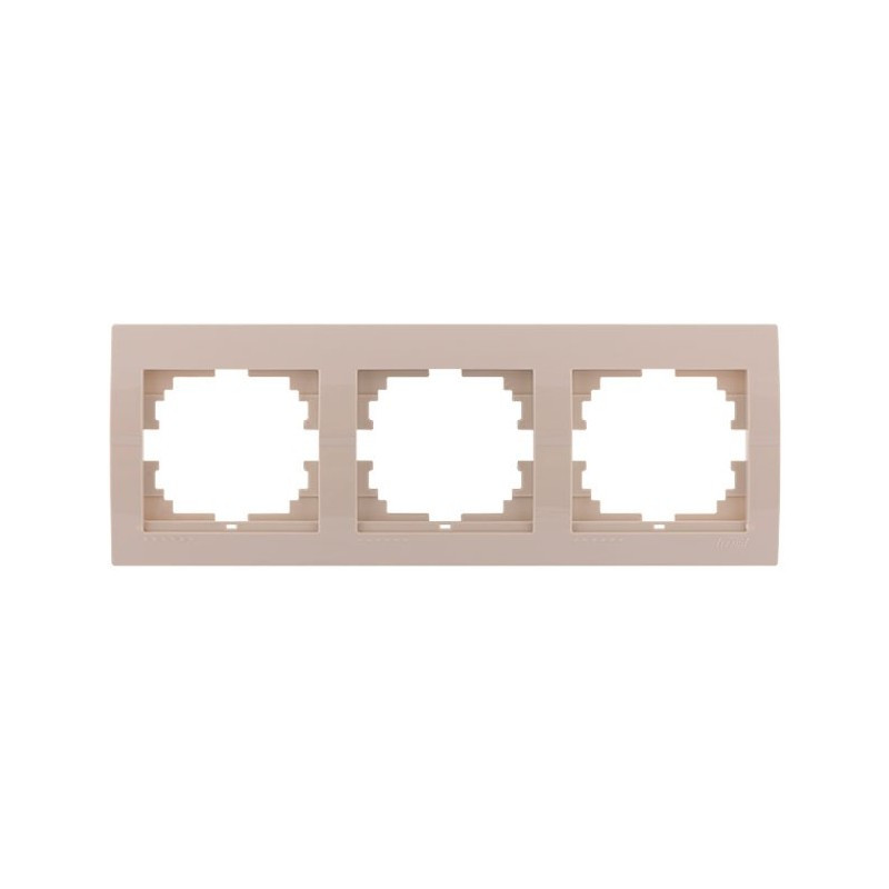 Рамка 3-а горизонтальна  крем LEZARD 702-0300-148 DERIY  000013683