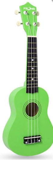 FZONE FZU-002 (Green) Укулеле сопрано
