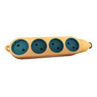 Колодка 4ГН 2-х сторонняя 4гн+4гн б/з латунь оранж+зелен. ( для строй работ)(160шт/ящ) R