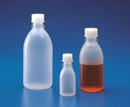 Пляшка узкогорлая градуйована з кришкою 500 мл, поліпропілен, фото 2
