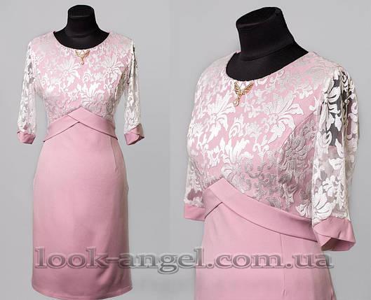 """Красивое женское платье ткань """"Костюмная"""" 56 размер батал, фото 2"""