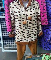 Пижама махровая  с длинным рукавом 46-50р ,доставка по Украине