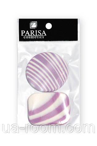 Спонж для макияжа Parisa, C-26 (2 шт, квадрат+круг цветной), фото 2