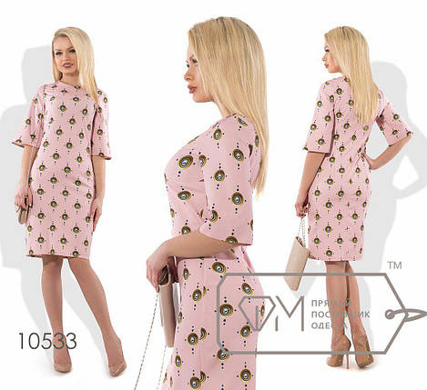 """Стильное  женское платье ткань """"Хлопок+стрейч(костюмная)"""" 50, 54, 56, 58, 60, 62 размер батал, фото 2"""