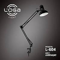 "Лампа настольная на струбцине ""Антрацит"" L-604 Ukraine Premium (074) ТМ ""LOGA light"""