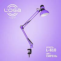 Светильник настольный с струбциной LOGA light Сирень L-610 Ukraine Premium (074)
