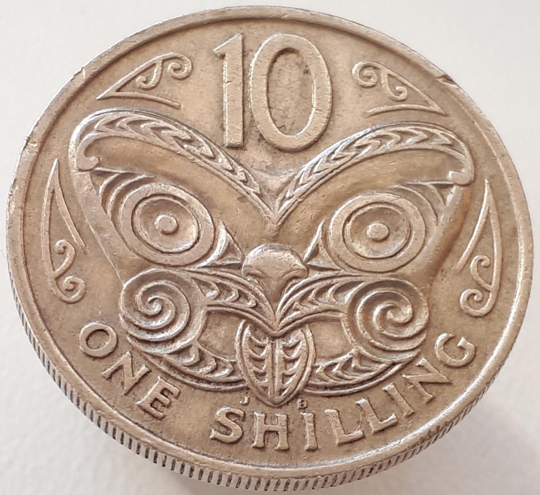 Новая Зеландия 1 шиллинг ( 10 центов ) 1967