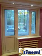 Балконный блок (окно+дверь) - выход на балкон