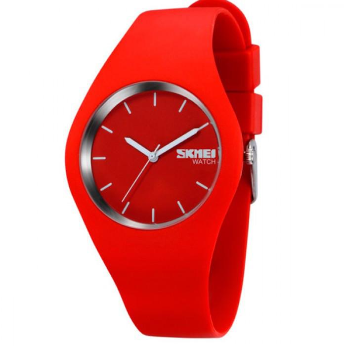 Женские часы Skmei Rubber Red Оригинал + Гарантия!