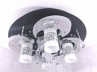 """Люстра потолочная """"Космос"""" с LED подсветкой и автоматическим отключением YR-5239/4+1, фото 1"""