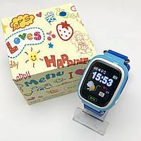 Детские умные смарт часы розумний годинник Q90 Q100 Smart Baby Watch с GPS 1.22 цветной сенсорный дисплей