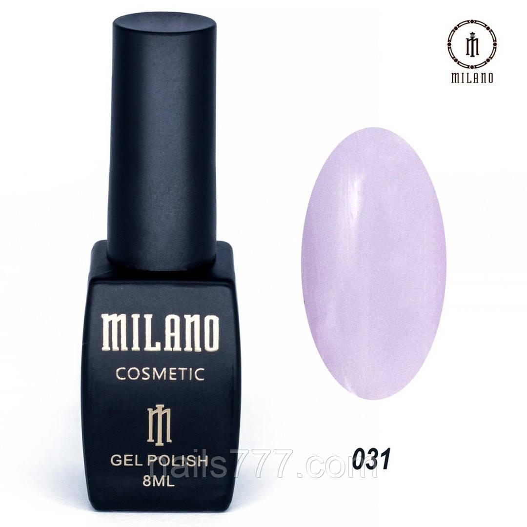 Гель-лак Milano 8 мл, № 031