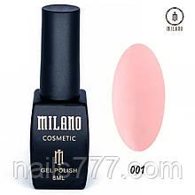 Гель-лак Milano 8 мл, № 001