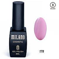 Гель-лак Milano 8 мл, № 178