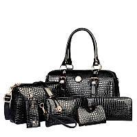 Набор женских лакированых сумок AL7395, фото 1