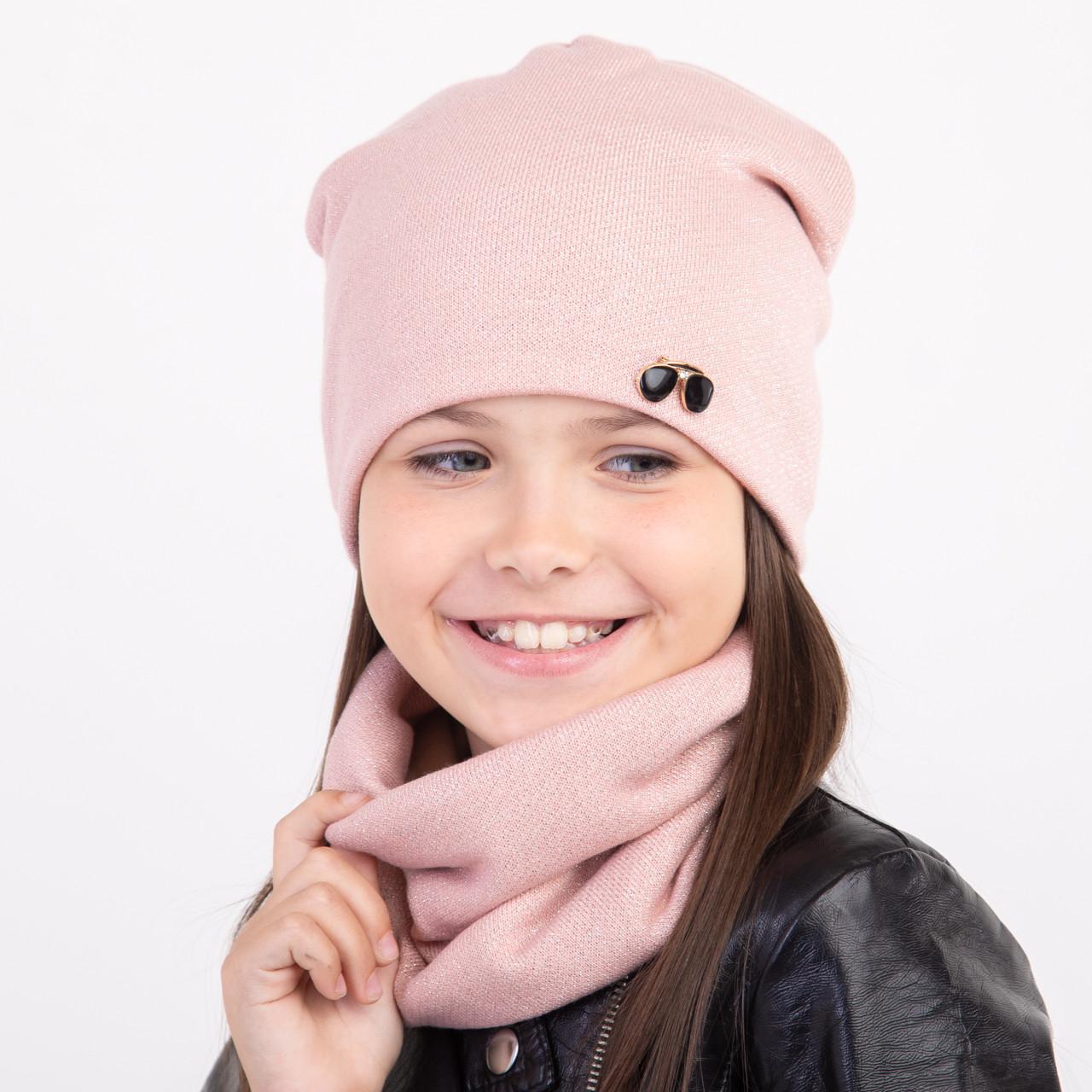 Зимний однотонный комплект для девочки - Артикул 2364