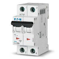 Вимикач автоматичний ЕАТОN 2р 20А (уп. 6 шт.) (PL4-C20/2) (Австрия-Сербия ЕС)