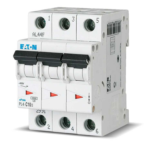 Вимикач автоматичний ЕАТОN 3р 16А (уп. 4 шт.) (PL4-C16/3) (Австрия-Сербия ЕС)