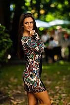"""Облегающее комбинированное мини-платье """"Бута"""" с длинным рукавом, фото 2"""