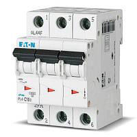 Вимикач автоматичний ЕАТОN 3р 63А (уп. 4 шт.) (PL4-C63/3) (Австрия-Сербия ЕС)