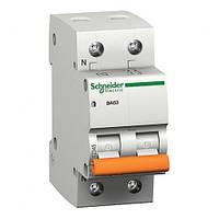 Вимикач автоматичний SCHNEIDER 2р 16А (ВА63 2Р/16) (уп. 6 шт.) (Болгария ЕС)