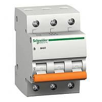Вимикач автоматичний SCHNEIDER 3р 40А (ВА63 3P/40) (уп. 4 шт.) (Болгария ЕС)