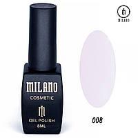 Гель-лак Milano 8 мл, № 008