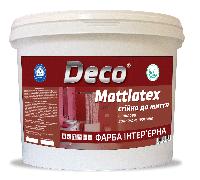КРАСКА ДЛЯ СТЕН И ПОТОЛКА, водоэмульсионная акрилова  MATTLATEX ТМ Deco