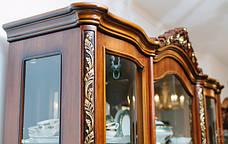 Витрина (сервант)  в гостиную 4Д в классическом стиле, гостиная Париж Sof, фото 2