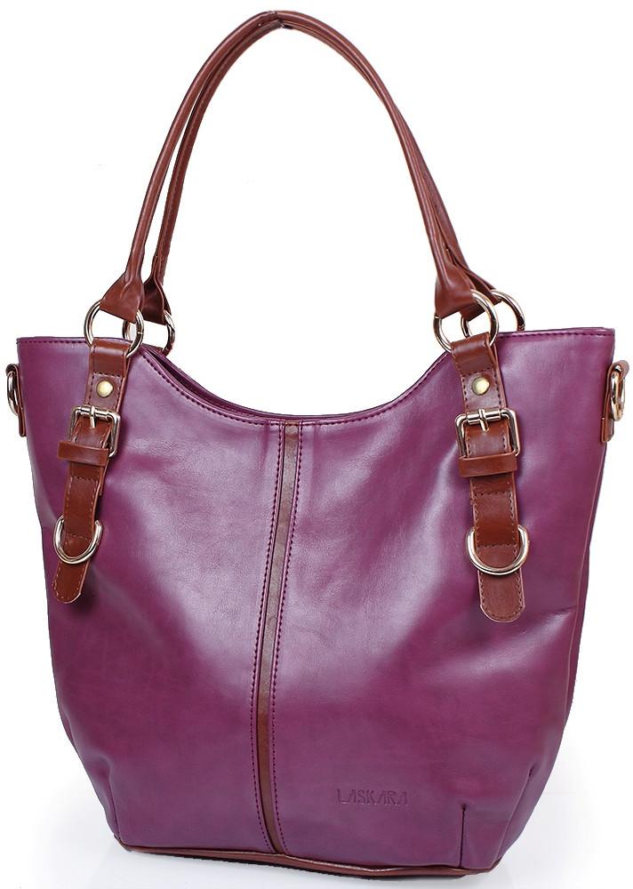 4b73fd81d879 Сумка-шоппер Из Кожзаменителя LASKARA LK10186-plum, Фиолетовая — в ...