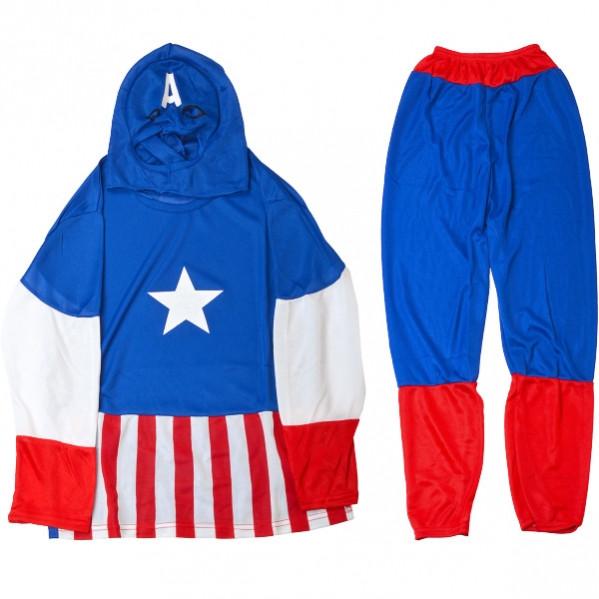Детский карнавальный костюм «Капитан Америка»