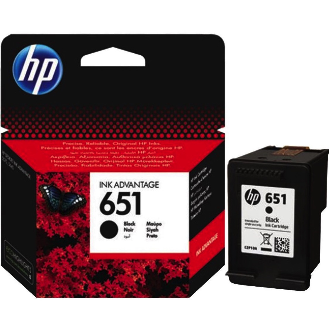 Картридж HP для Deskjet 5575, Officejet 202. HP 651 Black (C2P10AE)