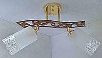 Люстра потолочная на 2 лампочки YR-6033/2-gd, фото 1
