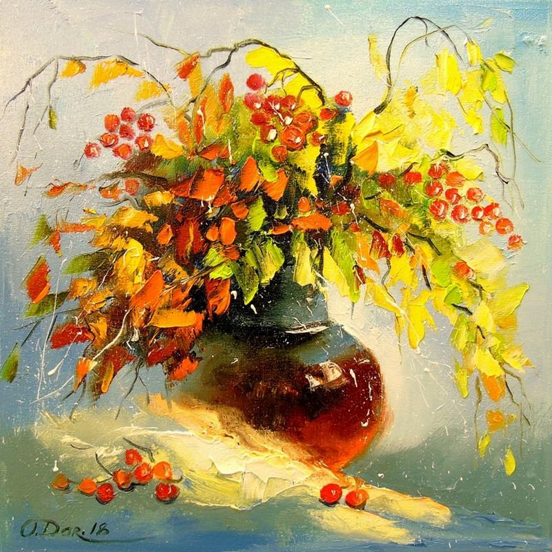 Картинки букет осенних цветов в красках, днем народного единства